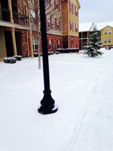 my snowy apartment