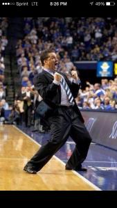 Coach Cal going wild